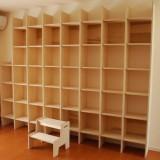 N邸造り付け本棚1